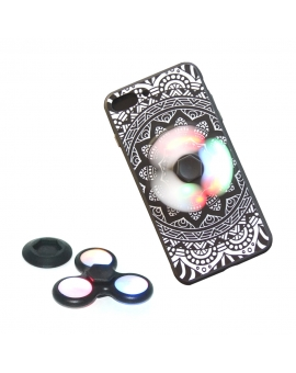 2-in-1 LED Glowing Fidget Spinner iPhone Case