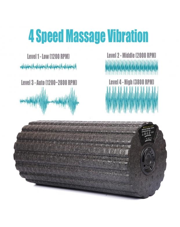4 Speed Vibrating Exercise Foam Roller