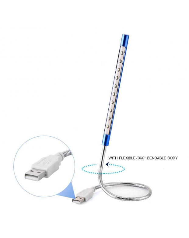 10 LED Book Light USB Tube