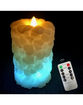 3D Flameless Quelccaya Ice layers Candle