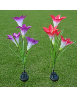 Solar Lily flower Lights (Pack of 2)