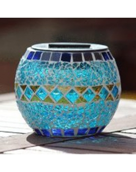 Mosaic Glass Solar Patio Light