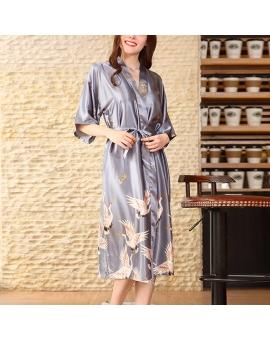 Bamboo Satin Long Kimono